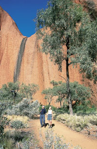 Mala walk at Uluru - Ayers Rock courtesy of Tourism NT for the promotion of travel to Uluru